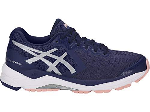 ASICS Women's Gel-Foundation 13 Running Shoes, 7.5M, Indigo Blue/Silver/Seashell PI (Best Foundation For Women Over 50)