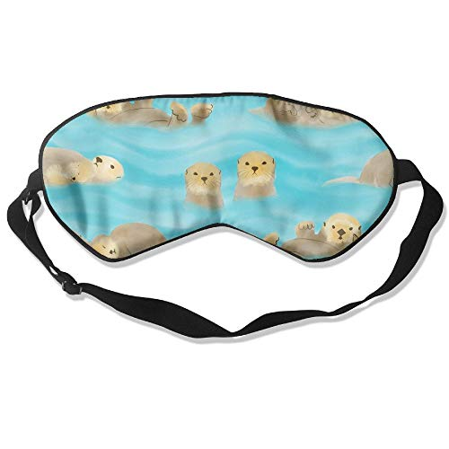 Bath Ripple 1 Light (Otters Blue Ripple Silk Sleeping Eye Mask Lightweight And Comfortable Eyeshade With Adjustable Strap)