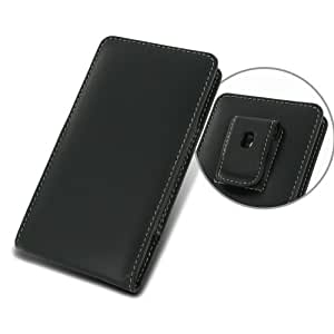 Sony Xperia Z1 with Belt Clip PDair Black Leather Vertical Pouch