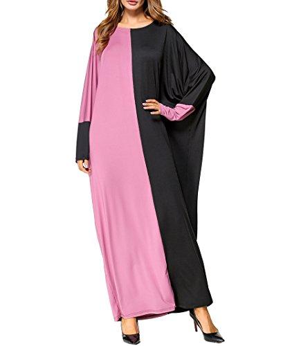 Libero Manica A Abito Qianliniuinc Lungo Maxi Kaftan Stile Allentato Pipistrello In Cotone Arabo Musulmano Formato Abaya Kimono nRaY0qUR