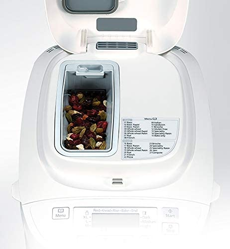 Panasonic SD-2501WXC Automated 25 Mode Breadmaker with Gluten Free Programme, White