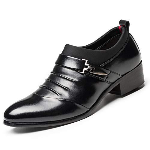 Scarpe Eleganti da Uomo Scarpe da Uomo d'Affari in Pelle Scarpe Traspiranti con Lacci Black