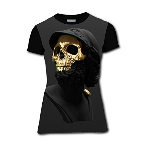 Frozen Family Costume Ideas (Cool Skull Men Girls Crew Neck T-shirt Running Tee Tops for Woman S)