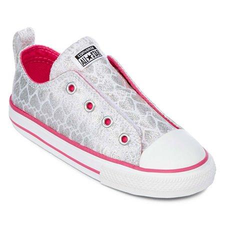 pink white. Converse B0044D7SFE Kids Chuck Taylor All Star Ox (Little Big) Silver/Pink/White 1a35690 Pink White