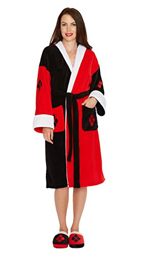 DC Comics Ladies Bathrobe Harley Quinn Groovy Pigiami