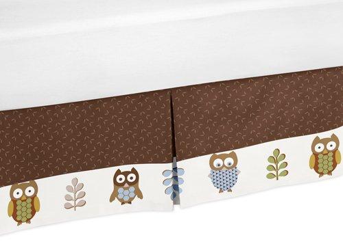 Sweet Jojo Designs Nature Owl Boys Girls Kid Queen Bedding B