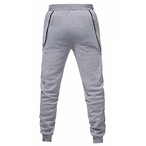 In Lungo Uomo Pantalone Da B Cerniera Casual Uomo Giacca Lavoro Jeans Cargo Feixiang Unita Tinta Pantaloni Grigio xYT1q8xw