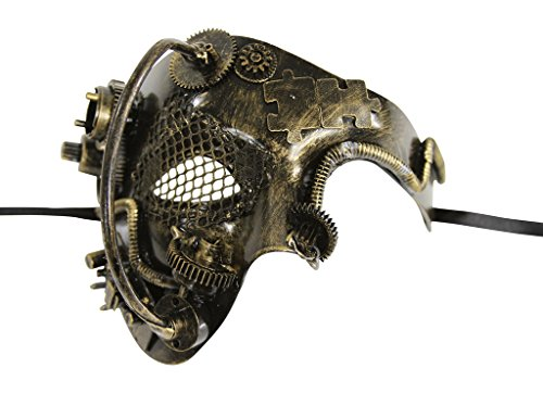 KAYSO INC Steampunk Phantom Of The Opera Mechanical Venetian Masquerade Mask, -
