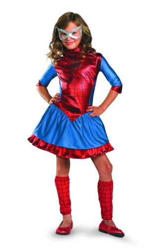 Marvel Spider-Girl Deluxe Costume, Red/Blue, Large