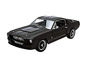1967 ford shelby mustang gt 500 matt black with gloss black stripes 118 by
