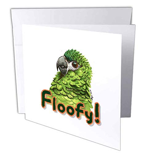 3dRose Skye Elizabeth Designs - Fluffy Hahns Macaw - 6 Greeting Cards with envelopes (gc_308669_1)