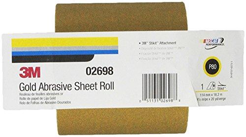 3M 02698 Stikit Gold 4-1/2'' x 20 Yard P80A Grit 216U Paper Sheet Roll by 3M (Image #3)