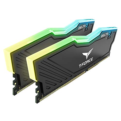 TEAMGROUP T-Force Delta RGB DDR4 16GB (2x8GB) 2666MHz (PC4-21300) CL15 Desktop Memory Module ram TF3D416G2666HC15BDC01 - Black