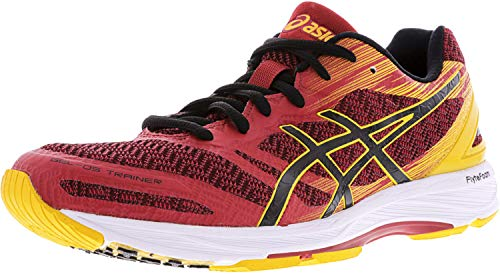 ASICS Men's Gel-DS Trainer 22 Running Shoe, Carbon/Black/Safety Yellow, 6 M US