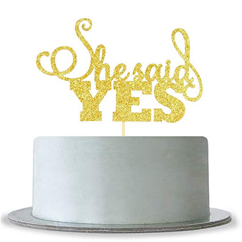 She Said Yes Cake Topper Wedding Engagement Party