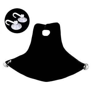 Sungpunet Beard Bib Catcher Apron Care Trimmer Hair Shave Man Bathroom Household Cleaning Protection(Black)