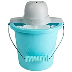 The fast and easy way to make 4 quarts of ice cream, frozen yogurt, or gelato. This unit features a locking motor mount, easy to clean plastic bucket and 4 quart aluminum canister. Simply add your ingredients into the aluminum canister, place...