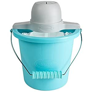 Nostalgia ICMP400BLUE 4-Quart Electric Ice Cream Maker with Easy Carry Handle