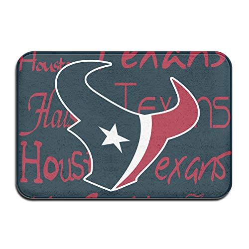 - Weckim Houston Texans Non-Skid Lock Water Quick-Drying Door Mat Floor Mat, Fadeless, 15.75