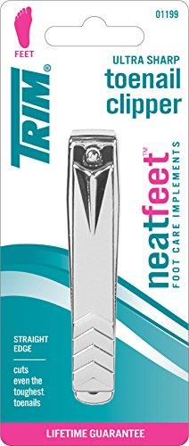 Ultra Sharp straight Edge Toenail Clipper. 1 Pc.