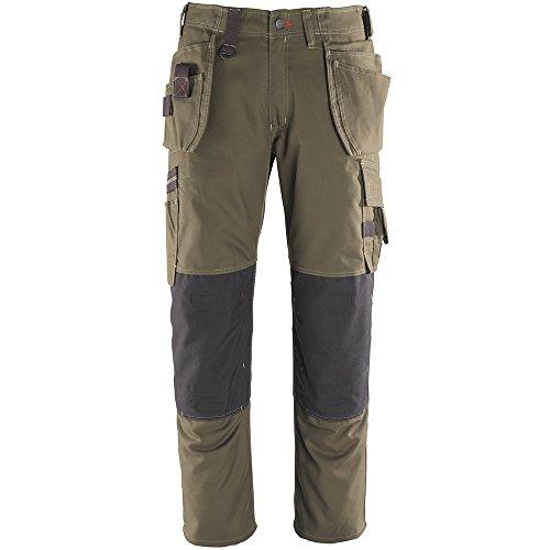 Mascot® Frontal Line Pantalones Service Pantalón lindos con muchos bolsillos, pierna Longitud 90cm dunkeloliv