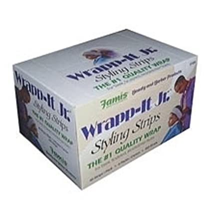 Wrapp-It Jr. Styling Strips White 40 Count Pack by Graham Professional Beauty