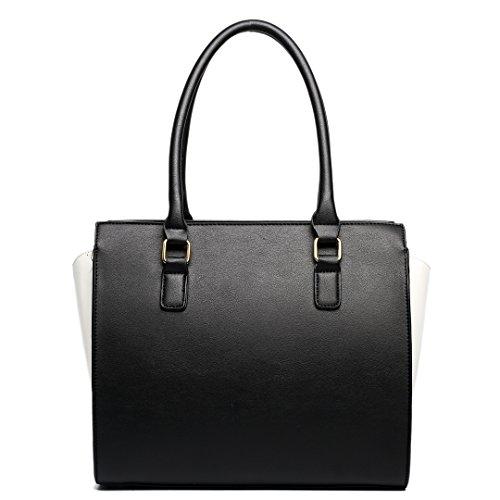 Black Miss Shoulder Black Contrast Structured Bag Leather Snakeskin Lulu Look Beige vqxvPwr