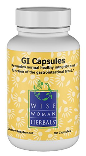 Wise Woman Herbals – GI Capsules – 90 Capsules – All-Natural Supplement for Digestion Support, Promotes Healthy Intestinal Function, Gastrointestinal Health Aid, Soothes and Protects Gut Lining