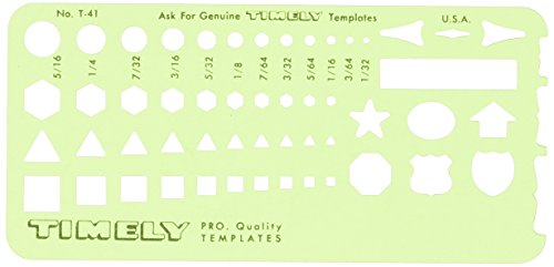 Timely - Small Shapes Template - 41T by Timely