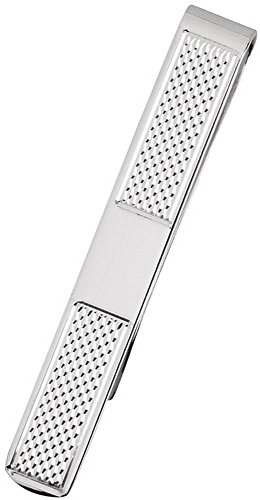 Silver Silver Plated Textured Detail Tie Slide by Orton West by Orton West