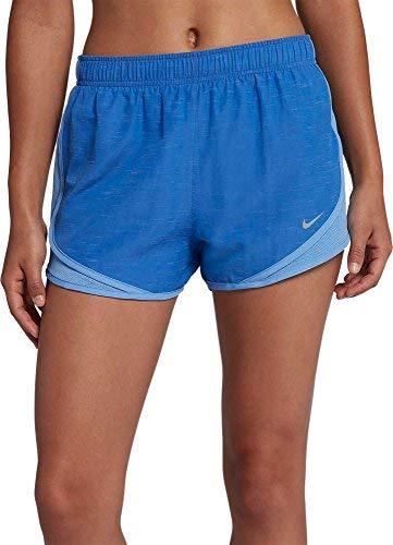 NIKE Women's 3'' Heatherized Tempo Running Shorts (Signal Blue, X-Large)