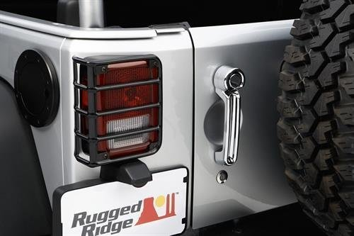 Rugged Ridge 11226.02 Black Rear Euro Tail Light Guard – Pair