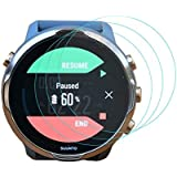 Lonlonking 3-Pack for Suunto 7 Screen Protector Tempered Glass for Suunto 7 Smartwatch [2.5D 9H Hardness][Anti-Scratch]
