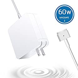 6Feeki Macbook Pro Charger MacBook Air Charger Replacement 60W Magsafe 2 Magnetic T-Tip Power Adapter Charger for Apple Macbook Retina-After Late 2012 (white)