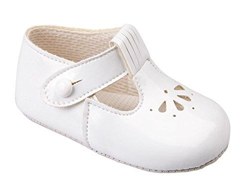 Earlydays Baypods - Patucos para niño Blanco - blanco (White Patent)