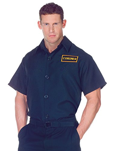 Summitfashions Mens Easy Costume Short Sleeve Shirt with Coroner Patch Great Couples Costume Sizes: One Size