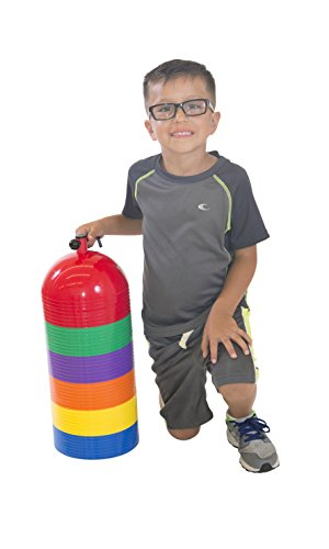 Team Dome - Sportime Dome Multi Markers Soft Dome - Set of 48 - Assorted Colors