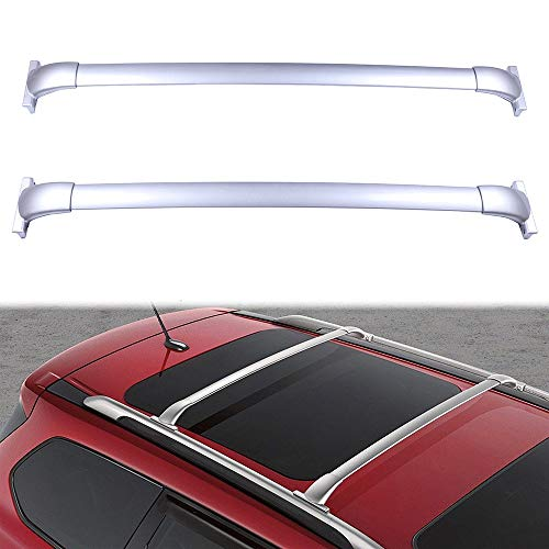 ECCPP 2X Roof Rack Cross Bar Roof Rack Cross Bars Luggage Cargo Carrier Rails Fit for 2013-2017 Nissan Pathfinder 3.5L,Silver Aluminum Roof Mounted Roof Rack Cross Bar Set