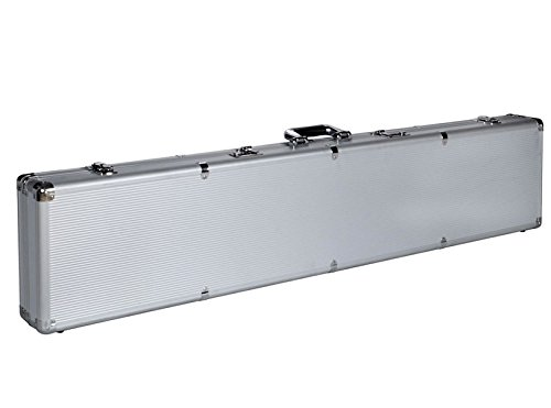 Silver Solid Aluminum Rifle Shotgun Pistol Locking Gun Case Storage Box With Dual Three-Digit Combination And Keys 53