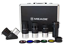 """Meade Series 4000 2"""" Eyepiece and Filter Set. Complete set of popular 2"""" items for your Meade telescope. This comprehensive kit makes accessorizing easy. Includes three Meade Plods Eyepieces in focal lengths of 26mm, 32mm and 40mm. All eyepie..."""