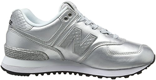 New Balance Wl574v2 Glitter Pack, Baskets Femme Gris (Grey)