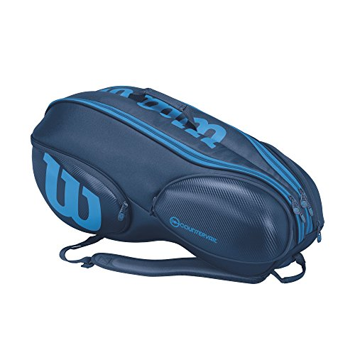 Vancouver Racket Bag, Ultra Collection - 9 Pack (Blue) by Wilson (Image #2)