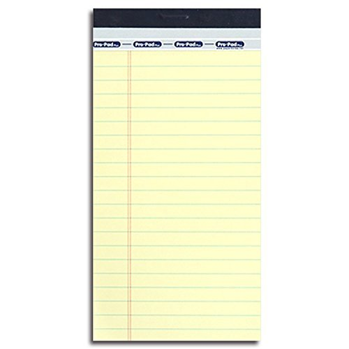 The Legal Pad, Pocket Notepad, Writing Tablet, Perforated, Yellow, Narrow Rule, 50 Sheets per Pad, 3.5 X 6.8 Inches, 3 Pads per Pack (Yellow_1 pack) (Three Pads 50 Sheet)