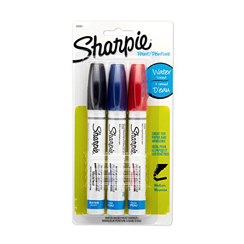 Sharpie Water-Based Medium Point Paint Markers, 3 Colored Markers(36969)