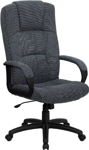 Flash Furniture High Back Gray Fabric Executive Swivel Chair with Arms by Flash Furniture