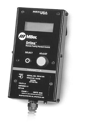 Miller 043389 Optima colgante para modelo XMT 350 multi-process soldador Mig/Mag pulsada, mando a distancia: Amazon.es: Industria, empresas y ciencia
