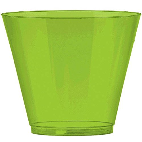 Amscan Kiwi Green Plastic Cups Big Party Pack, 9 Oz., 72 Ct.