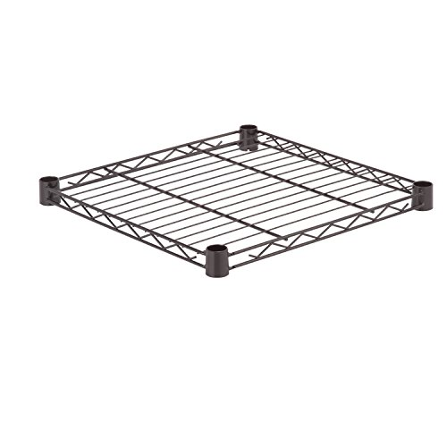 (Honey-Can-Do SHF350B1818 Steel Wire Shelf for Urban Shelving Units, 350lbs Capacity, Black, 18Lx18W)