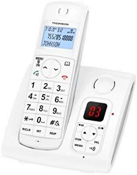 Thomson TH-550D2RWHT - Teléfono (Teléfono DECT, Terminal inalámbrico, Altavoz, 50 entradas, Blanco): Amazon.es: Electrónica