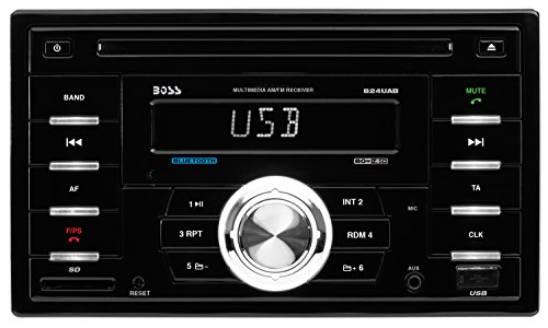 UPC 791489119016, BOSS AUDIO 824UAB Double-DIN CD/MP3 Player Receiver, Bluetooth, Wireless Remote